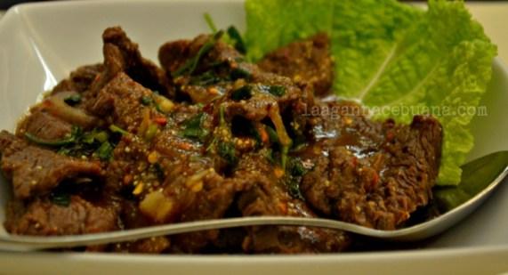 Siam Cuisine Spicy Thai Beef Salad (nam tok)