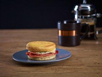 Breakfast sandwich farmer's ham