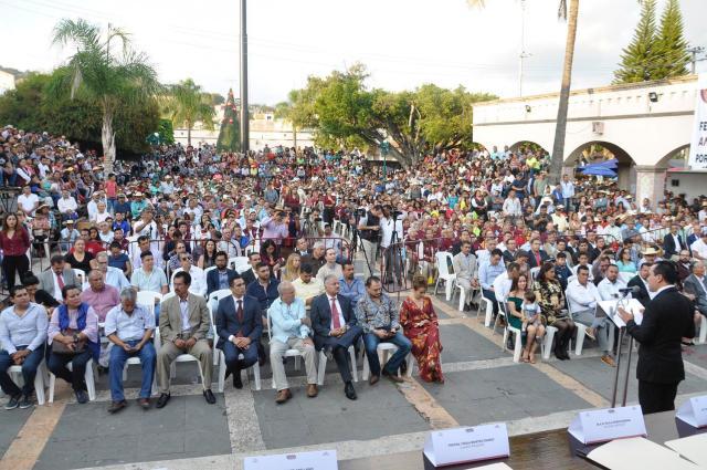 Alcalde de Tejupilco rindió su Primer Informe de Gobierno