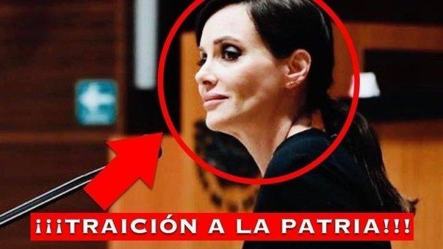 Por medio de las firmas en change.org han solicitado la renuncia de la senadora Lilly Téllez