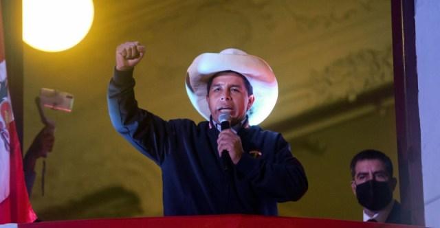 Pedro Castillo sería presidente electo en Perú con el 100 % de actas contabilizadas