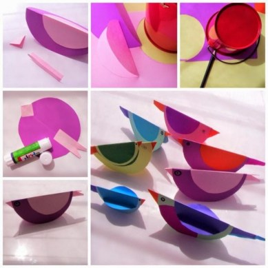 making-color-birds-in-paper-handicraft-ideas-Paper-craft-for-kids-handicrafts-for-kids-simple-bird-craft-from-chart-paper
