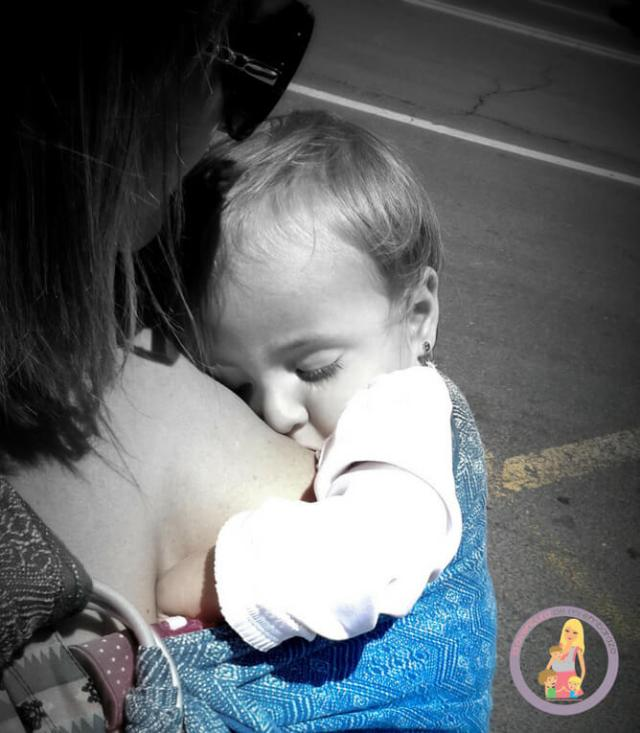 portear con bandolera lactancia materna