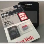 iVIS miniのアンケートでSanDiskのmicroSDHCカード32GBが当たっちゃいました!
