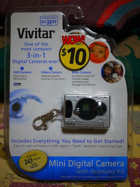 Vivitar Mini Digital Camera:ビビターの手のひらサイズトイデジ