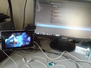 desktop with android device