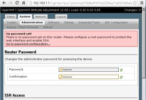 openwrt-setting-password