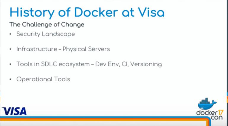 history of Docker at Visa