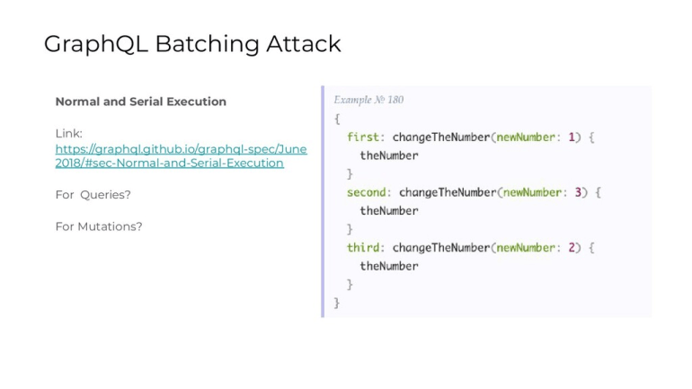 Example of serial execution in GraphQL