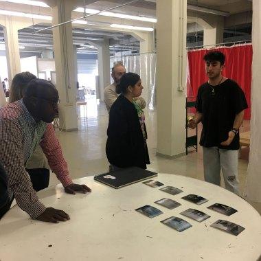 Larry Ossei-Mensah, Studio visit, ASFA Lab12