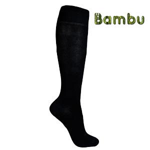 svarta bambu stödstrumpor