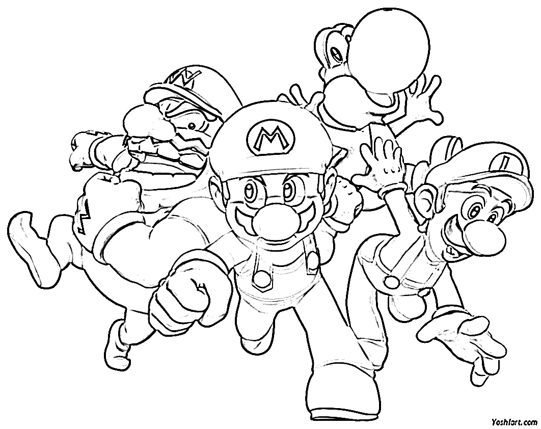 Super Mario Odyssey Broodals Coloring Pages