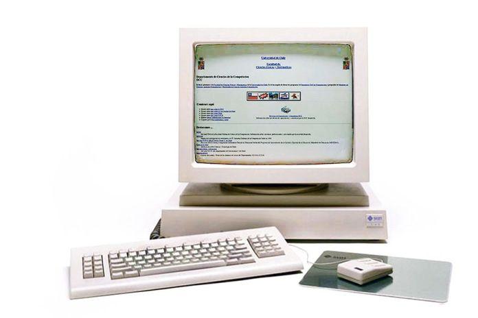 primera página web en Chile