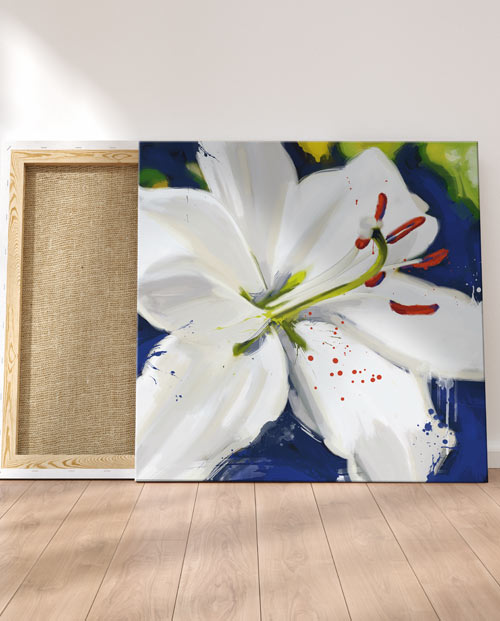 tableau orchidee blanche