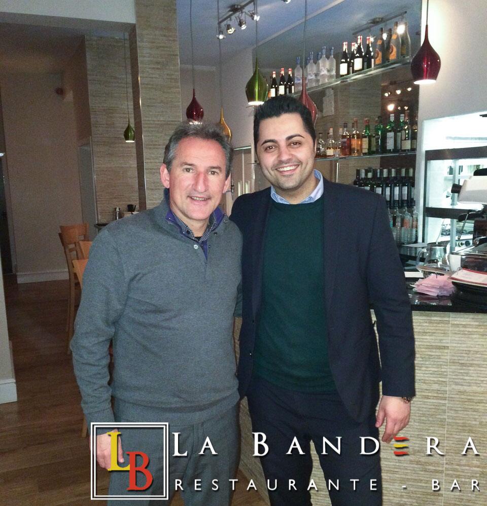 Txiki Begiristain at La Bandera Restaurant