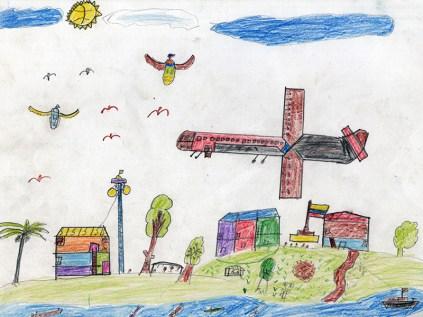 Los niños de la frontera norte dibujan su realidad