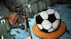 MENU MUNDIAL Los artistas callejeros creen que el Mundial Brasil 2014 es una pesada carga para la economía del país y han encontrado una forma de canalizar su protesta: pintar grafitis. Acà una colecciòn con los mejores y màs expresivos.