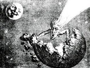 Postales del cometa Halley en 1910, cuando ocasionó pánico global.