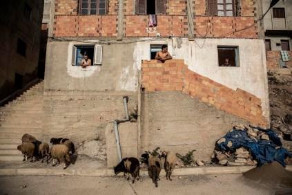 Una casa del humilde barrio Afazar en las afueras de Alhucemas. Una de las reivindicaciones del Movimiento Popular del Rif (Hirak), precursor de las movilizaciones, es una mayor inversión pública para el desarrollo de la región