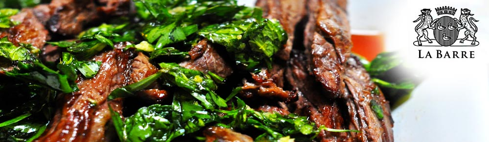 Grilled Skirt Steak with Rosemary & Garlic Infused Olive Oil