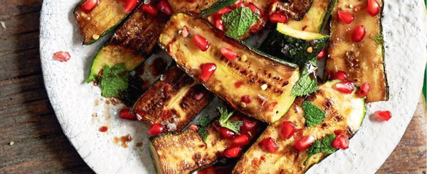 Fried zucchini with chilli and balsamic dressing