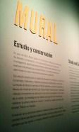 """Área exposición de estudio y conservación de """"Mural"""". Fuente: propia"""