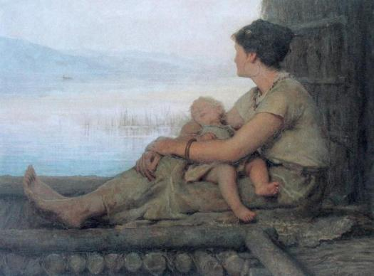 Картина Альбера Анкера «Жительница озерного поселка», 1880 год.