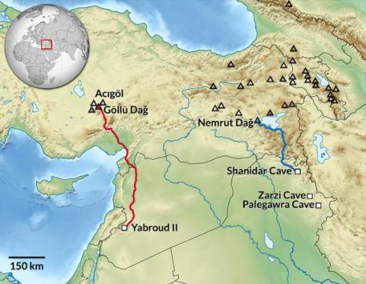 Карта городов каменного века