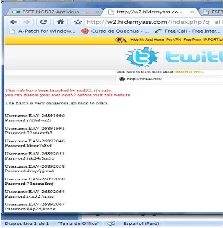 Navegando bajo Proxy webs que Nod Bloquea (5/6)
