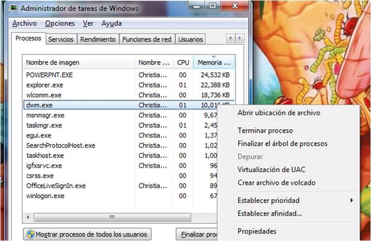 Matar Proceso Aero - Windows 7 (5/6)