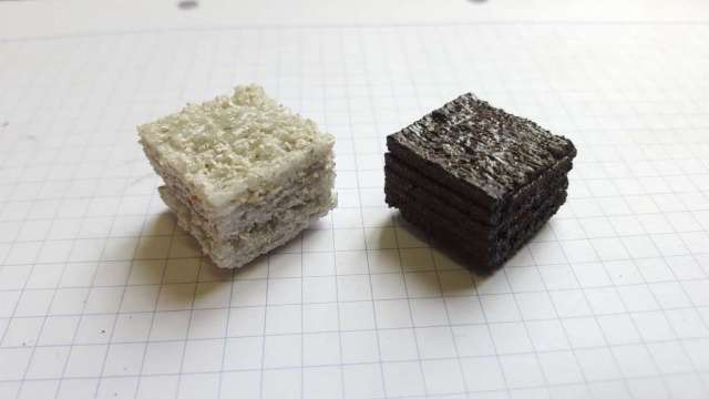 Cast regolith simulants made from laser processing at the University of Adelaide