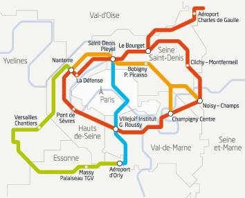 Plan schématique - Société du Grand Paris