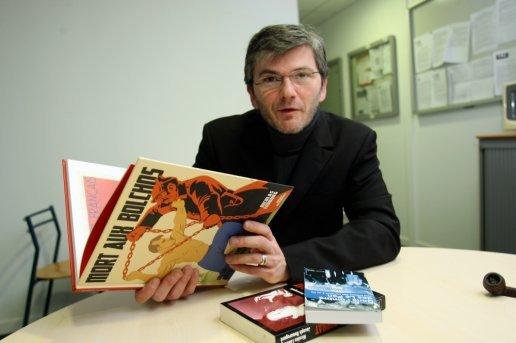 """Nicolas Lebourg présentant son livre """"Mort aux bolchos"""""""