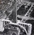 2 rampes de béton pour accéder au deuxième étage de la tour #Eiffel. Projet d'André Basdevant 1936 #Paris #pourquoi