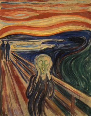 """""""Le cri"""" (1893) de Edvard Munch"""