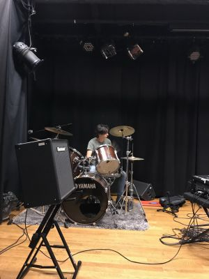 Annyvonne on drums