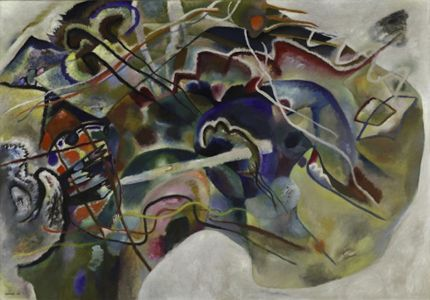 """Bordure blanche"" (1913) de Wassily Kandinsky"