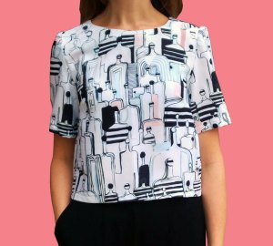 People-Print-Shell-Top-FRont
