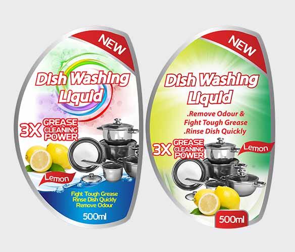 Dish Washing Label Stickers Kenya Design