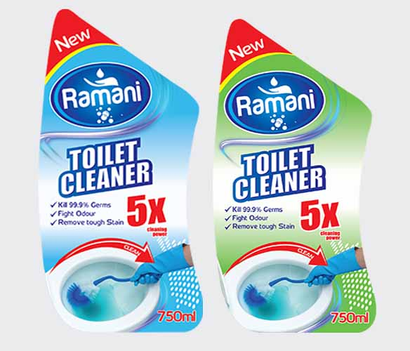 Toilet Cleaner Label Design and Printing
