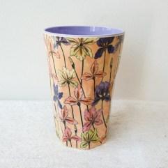 Iris print, grote melamine beker - Rice