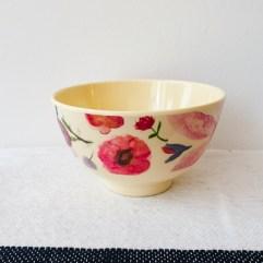 Klein melamine bakje, bloemen print - Rice