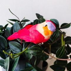 Decoratie vogel rood