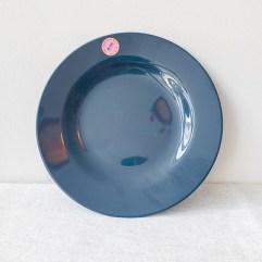 Donker grijs medium melamine dinerbord - Rice