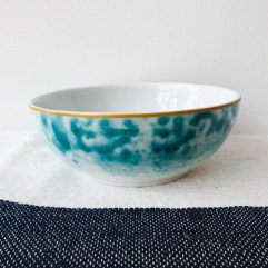 Porseleinen bakje, blauwe glazuur print - Rice