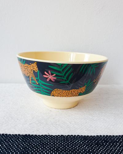 Klein melamine bakje, panter print - Rice