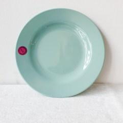 Blauw rond melamine bord - Rice
