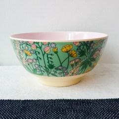 Medium melamine bakje, bloemen print - Rice