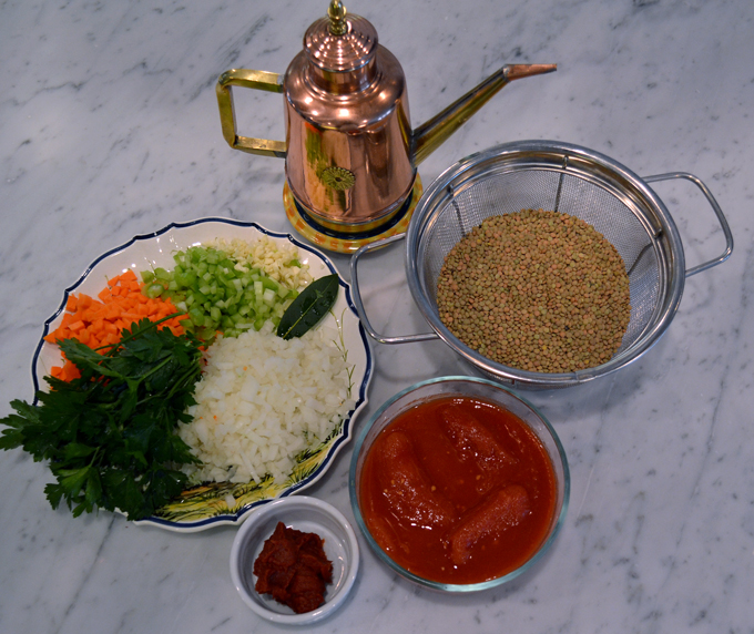 Lentil Soup Ingregients | labellasorella.com