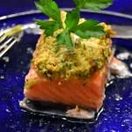Salmone con Pistacchio e Limone Conservati – Salmon with Pistachio and Preserved Lemon